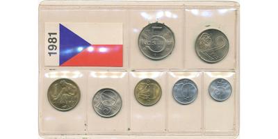 Ročníková sada mincí 1981