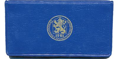 Ročníková sada mincí 1981, modrý obal