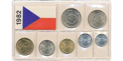 Ročníková sada mincí 1982