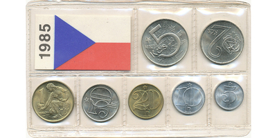 Ročníková sada mincí 1985
