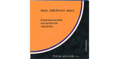 Ročníková sada mincí 1990, poškozený obal