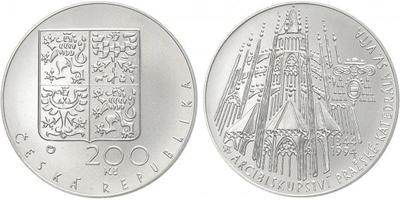 200 Kč 1994 - Arcibiskupství pražské, katedrála sv. Víta, běžná kvalita
