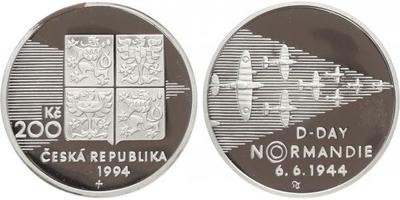 200 Kč 1994 - Normandie, PROOF