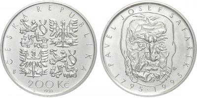 200 Kč 1995 - Pavel Josef Šafařík, běžná kvalita