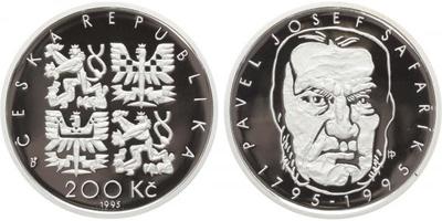 200 Kč 1995 - Pavel Josef Šafařík, PROOF