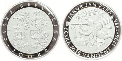 200 Kč 1996 - Jakub Jan Ryba, PROOF