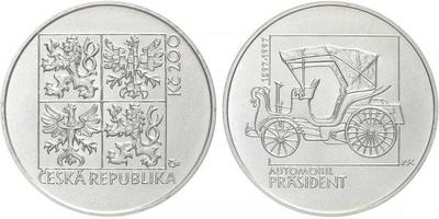 200 Kč 1997 - Automobil Präsident, běžná kvalita