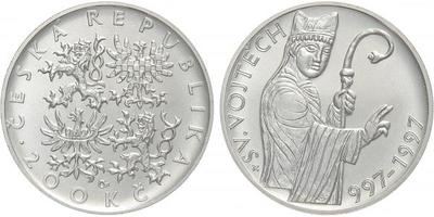 200 Kč 1997 - Sv. Vojtěch, bežná kvalita