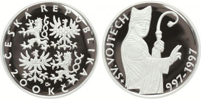 200 Kč 1997 - Sv. Vojtěch, PROOF