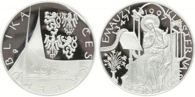 200 Kč 1997 - Emauzy, PROOF