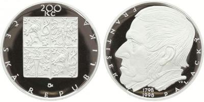 200 Kč 1998 - František Palacký, PROOF