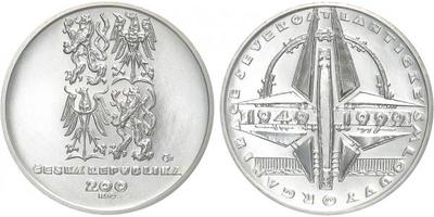 200 Kč 1999 - Založení NATO, běžná kvalita