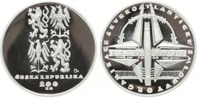 200 Kč 1999 - Založení NATO, PROOF