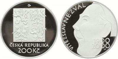 200 Kč 2000 - Vítězslav Nezval, PROOF