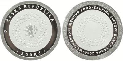 200 Kč 2000 - Mezinárodní měnový fond, PROOF
