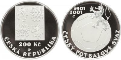 200 Kč 2001 - Český fotbalový svaz, PROOF
