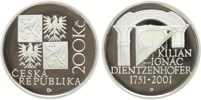 200 Kč 2001 - Kilián Ignác Dientzenhofer, PROOF