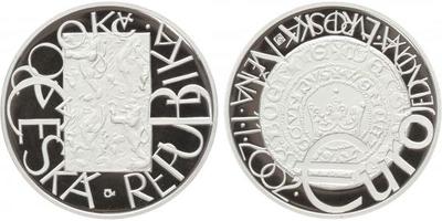 200 Kč 2001 - Evropská měna Euro, PROOF