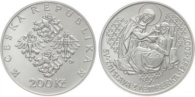 200 Kč 2002 - Zdislava z Lemberka, běžná kvalita