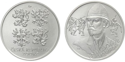 200 Kč 2002 - Emil Holub, bežná kvalita