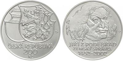 200 Kč 2002 - Jiří z Poděbrad, běžná kvalita