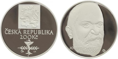 200 Kč 2003 - Josef Thomayer, PROOF