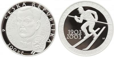 200 Kč 2003 - Svaz lyžařů v Království českém, PROOF