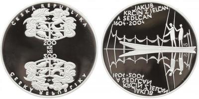 200 Kč 2004 - Jakub Krčín z Jelčan a Sedlčan, PROOF