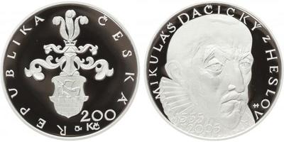 200 Kč 2005 - Mikuláš Dačický z Heslova, PROOF