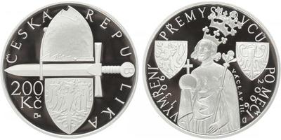 200 Kč 2006 - Vymření Přemyslovců po meči, PROOF