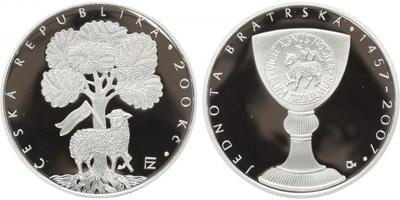 200 Kč 2007 - Jednota bratrská, PROOF