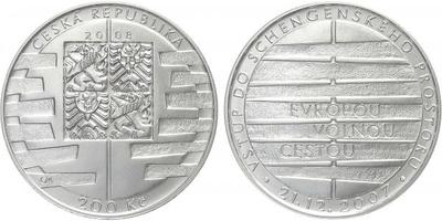 200 Kč 2008 - Vstup do schengenského prostoru, běžná kvalita