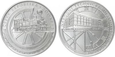 200 Kč 2008 - Národní technické muzeum, běžná kvalita