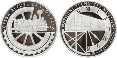 200 Kč 2008 - Národní technické muzeum, PROOF