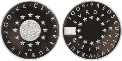 200 Kč 2009 - Předsednictví České republiky v Radě EU, PROOF