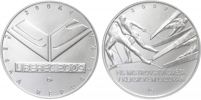 200 Kč 2009 - Mistrovství světa v klasickém lyžování, běžná kvalita