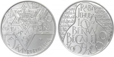 200 Kč 2009 - Rabi Jehuda Löw ben Becalel, běžná kvalita