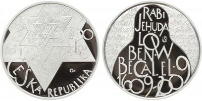 200 Kč 2009 - Rabi Jehuda Löw ben Becalel, PROOF