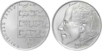 200 Kč 2010 - Gustav Mahler, běžná kvalita