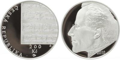 200 Kč 2010 - Gustav Mahler, PROOF