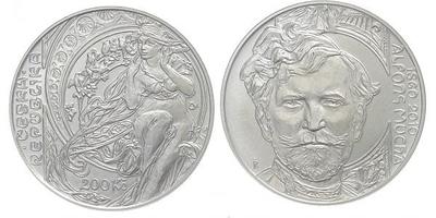 200 Kč 2010 - Alfons Mucha, běžná kvalita