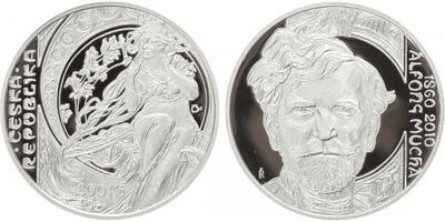 200 Kč 2010 - Alfons Mucha, PROOF