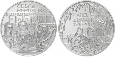 200 Kč 2010 - Karel Zeman, běžná kvalita