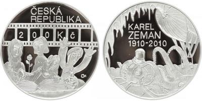 200 Kč 2010 - Karel Zeman, PROOF