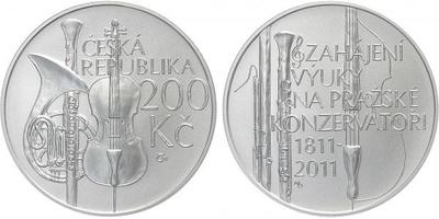 200 Kč 2011 - Pražská konzervatoř, běžná kvalita