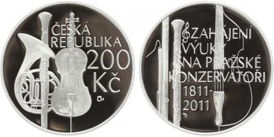 200 Kč 2010 - Pražská konzervatoř, PROOF