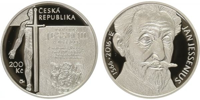 200 Kč 2016 - Jan Jessenius, PROOF