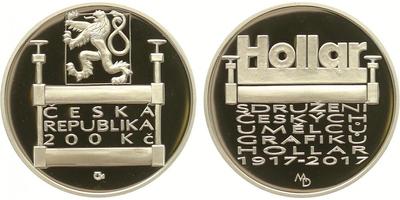 200 Kč 2017 - Sdružení Hollar, PROOF