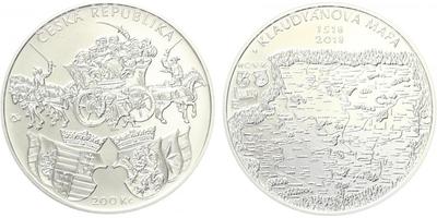 200 Kč 2018 - 500. výročí vydání Klaudyánovy mapy, běžná kvalita