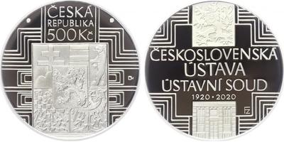 500 Kč 2020 - 100. výročí schválení československé ústavy a vzniku Ústavního soudu Československé republiky, PROOF